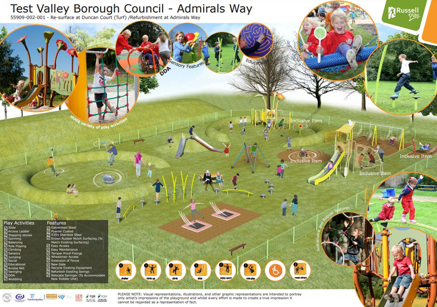 Admirals way play area designs