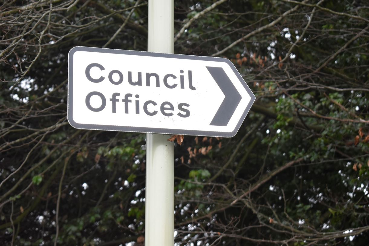 Council offices sign outside Beech Hurst