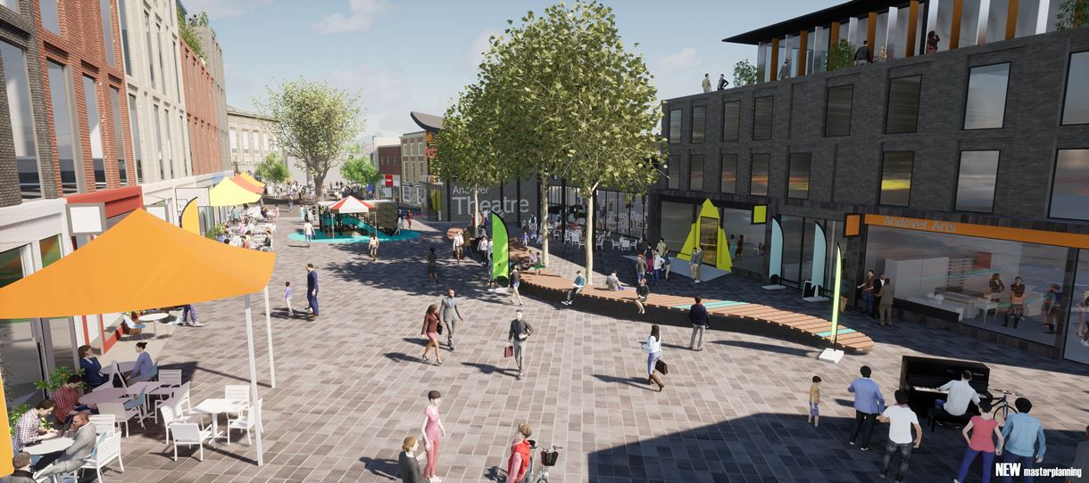 Andover Masterplan the Chantry centre public space