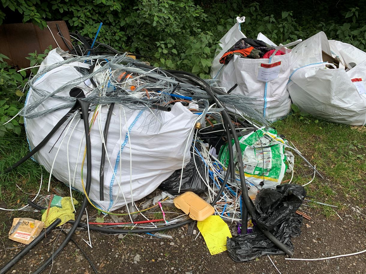 Matthews fly-tip in Stoneymarsh